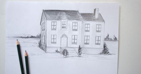 Apprendre dessiner une maison avec quelques bases de for Apprendre a dessiner une maison