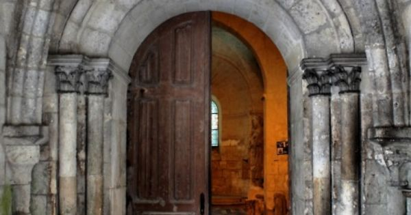 medievallove: Entrance of the Templar's chapel, Laon, France. 12th c. Original by