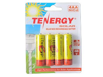 1 Card Tenergy Aa 1000mah Nicd Rechargeable Batteries For Solar Lights Retail Pack