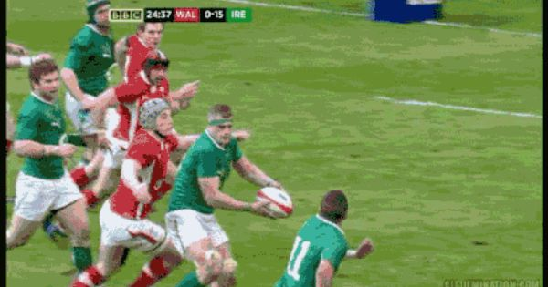Best Rugby Moment I Ve Ever Seen Simon Zebo Ireland Vs Wales Funny Gif Funny Pictures In This Moment