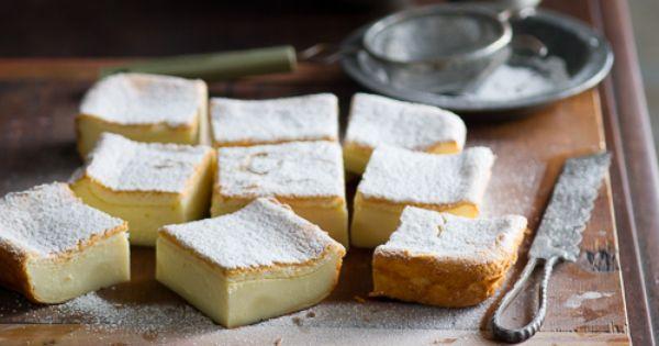 Magic Custard Cake Recipe dessert food cake