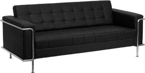 Modern Black Sofa Contemporary Leather Sofa Black Leather Sofas
