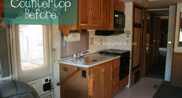 Updating RV Counters With Giani Granite Countertop Paint.. this blog has a