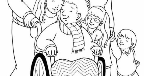 special needs coloring pages - photo#20