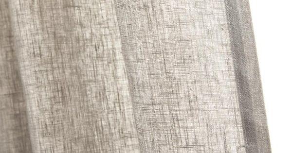 Rideau Tamisant Toile Gris Perle L 135 X H 250 Cm En 2020 Rideaux Gris Perle Et Toile