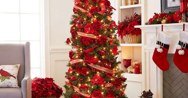 7ft Pre Lit Willow Pine Artificial Christmas Tree Clear Lights By Ashland Indoor Christmas Decorations Christmas Decorations Indoor Christmas