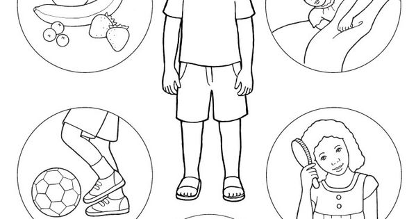 Human Body Coloring Pages To Download And Print For Free