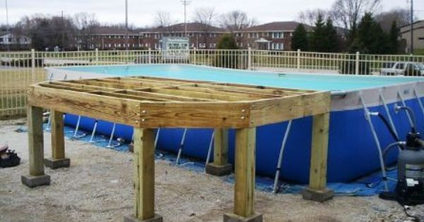 Google image result for for Floating deck around above ground pool