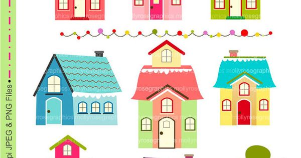 house Digital Clip Art , house, Personal and Small ...