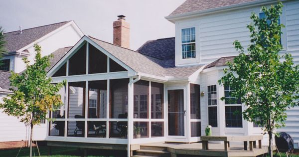 Kolby Construction Charlotte: Screened In Deck With Hip Roof