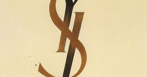 """YSL"" logo designed by adolphe mouron cassandre, 1961... seen at Louboutin exhibit:"
