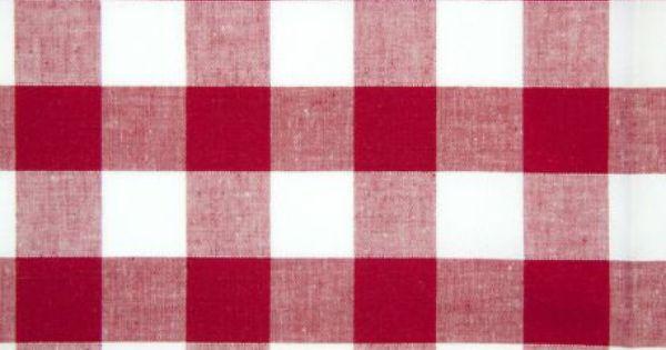 tissus coton vichy rouge 25 mm boucherie tissu vichy et bonbonni re. Black Bedroom Furniture Sets. Home Design Ideas