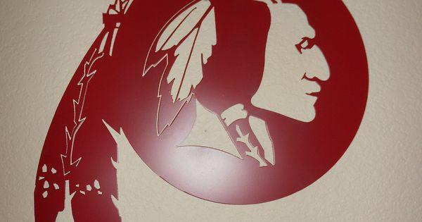 Washington Redskins Metal Wall Art Plasma Cut Native