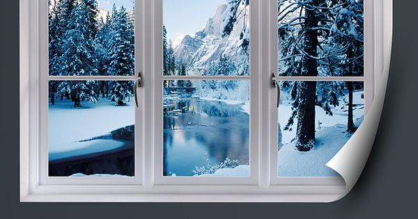 faux windows for windowless rooms | Merced River in Winter ...