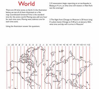 4th Grade Social Studies Worksheets Free Printables World Time Zones Time Zones Social Studies Worksheets