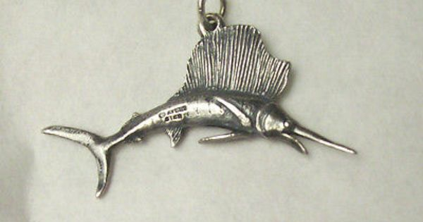 James Avery Silver Retired Realistic Detail Marlin Fish