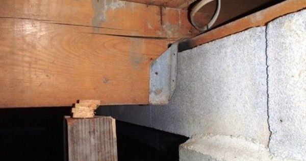 Cracked Floor Joists In Your Basement Or Crawlspace Can Lead To Sloped Floors Door Jambs Interior Cracking Separation Of Home Repairs Home Repair Crawlspace