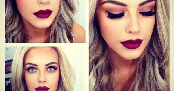 Perfect hair color and eye makeup