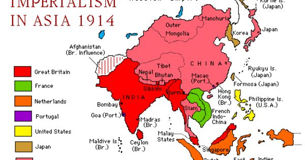 Imperialism In Asia 1914 Click On Image To Enlarge