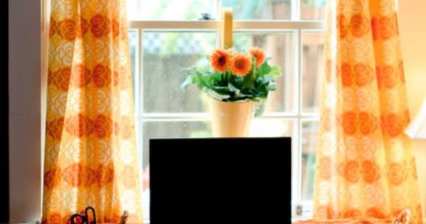 A different way to hang curtains homey home pinterest - Pictures of different ways to hang curtains ...