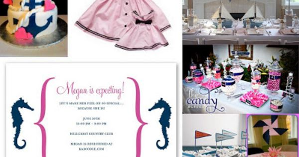 Enchanted Expectations: Girl Nautical Baby Shower Pink And Navy
