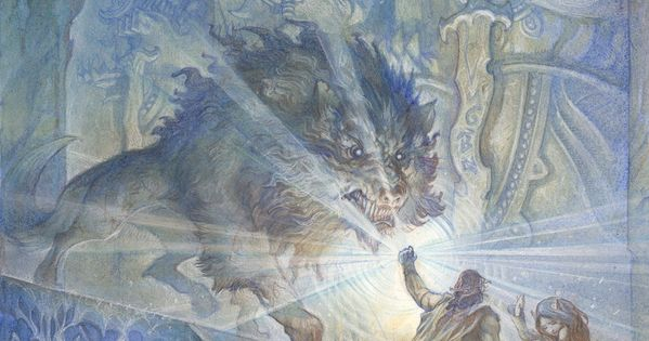 A fantastic picture of Beren and Lúthien escaping from Angband with a