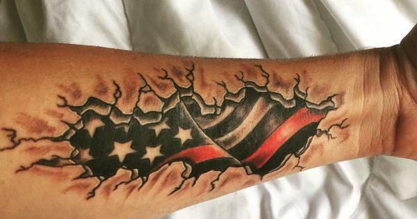 Thin red line american flag tattoo ideas pinterest for Tattoo shops in winston salem nc