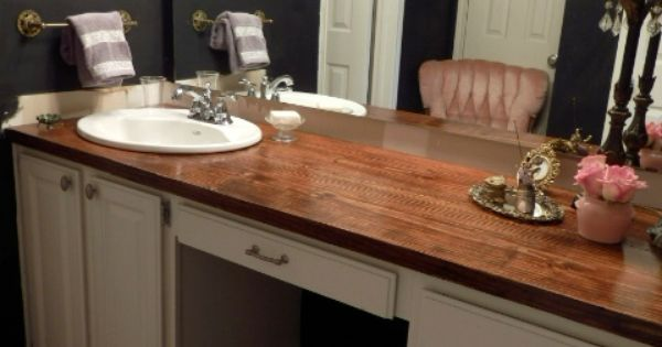 Wooden Bathroom Countertop A Diy Project With Four Coats