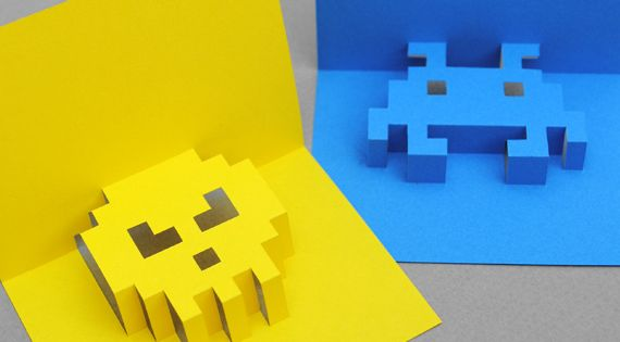 8 Bit pop up cards (DIY)