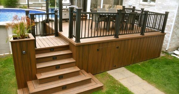 Pool Deck Building A Deck Wooden Deck Designs Patio Plans