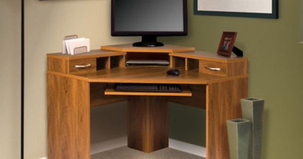 Corner computer desk with adjustable pull out keyboard for Muebles de oficina walmart