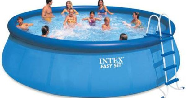 Intex 18 39 x 48 easy set above ground swimming pool with for Rundpool aufblasbar