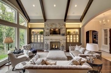 Houzz Home Design Decorating And Remodeling Ideas And Inspiration Kitchen And Bathroom Design Farm House Living Room Family Room Design Rustic Living Room