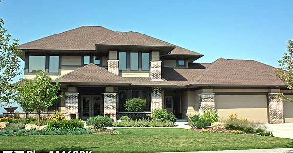 Prairie Style Carport : Prairie style home plan rk contemporary