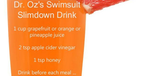 Dr Oz S Swimsuit Slimdown Drink Weight Loss Hair Beauty At Repinned Net