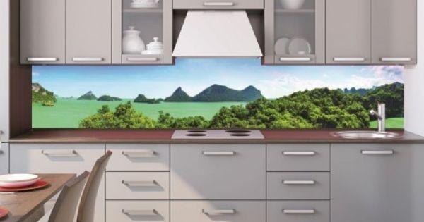 Gebze Mutfak Dekorasyon Resimli Cam Tezgah Arası Cam