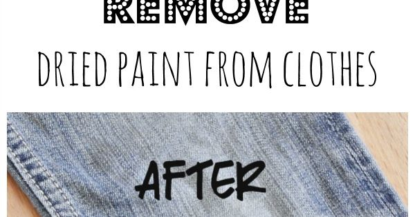 how to clean dried latex paint