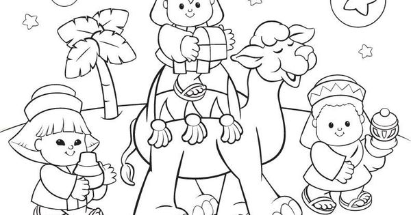 Three kings coloring page Winter