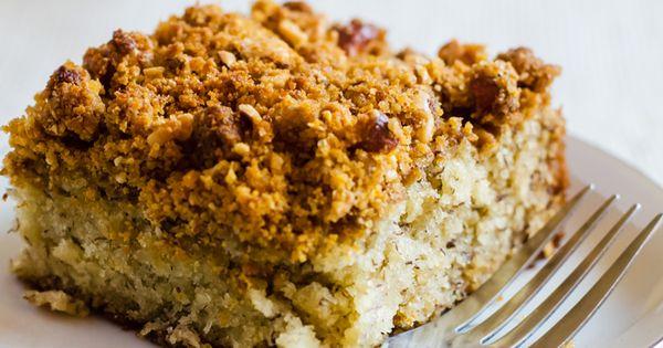 ... Graham Cracker Streusel   Recipe   Banana Coffee Cakes, Coffee Cake