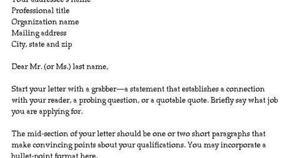 Simple, Cover Letter Template And Letter