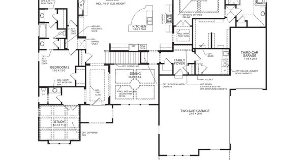 Fischer Homes Rookwood Model Interior House Plans