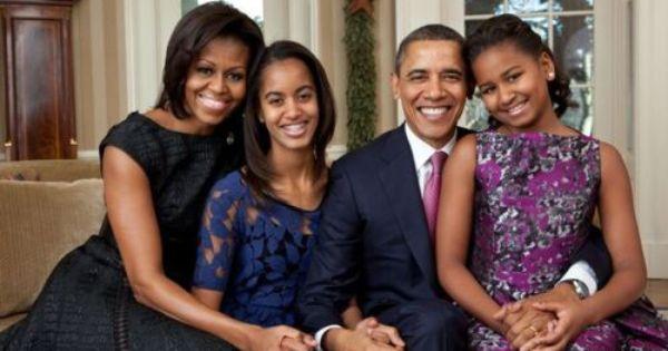 Barack Obama family portrait 2011 ~ Malia, name of the eldest child,