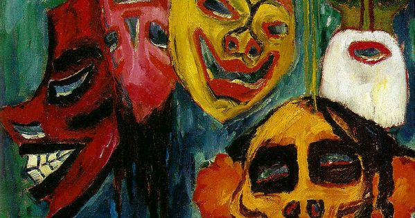 nature morte aux masques de emil nolde une oeuvre majeure de l 39 expressionnisme. Black Bedroom Furniture Sets. Home Design Ideas