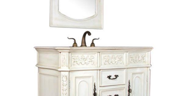 42 Quot Antique Single Sink Bathroom Vanity Traditional