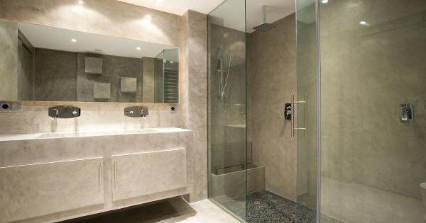 Microcemento ver ducha bano cemento alisado google - Banos con microcemento alisado ...