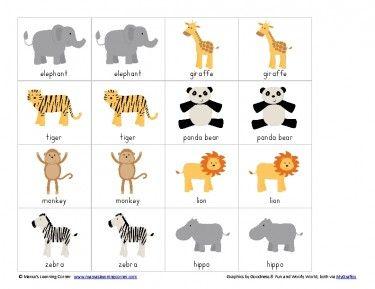 Free Printable Match Game Packet Fruit Themed Safari Animals Preschool Jungle Animals Preschool Animal Matching Game