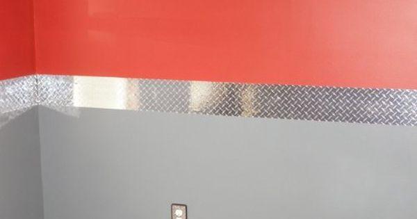 Diamond Plate Wall Border 8 Inch X 60 Feet Vinyl With