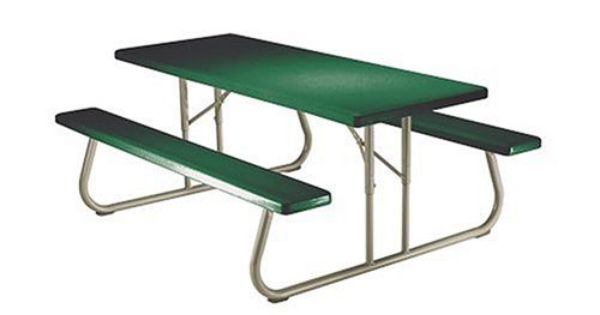Lifetime 22123 6 Person Folding Picnic Table Hunter Green