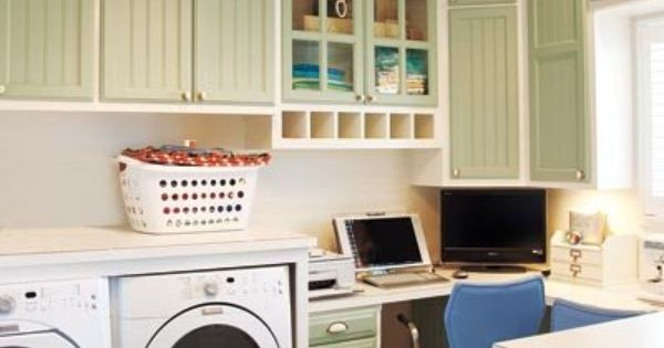 Like The Way The Washer Dryer Are Stored But Wouldn T Want My Office Next To It Guest Room Office Laundry Craft Rooms Laundry Room Design