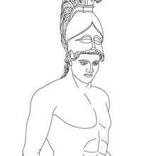 Ares The Greek God Of War Coloring Page Coloring Page
